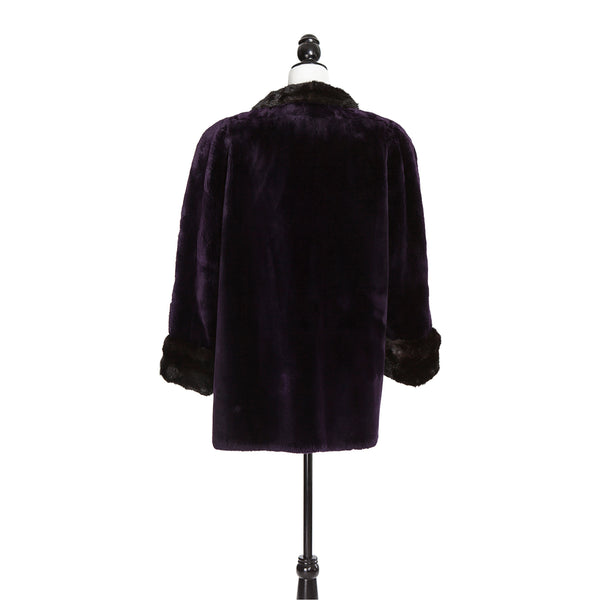 Purple Sheared Beaver Trotter Mink Trim