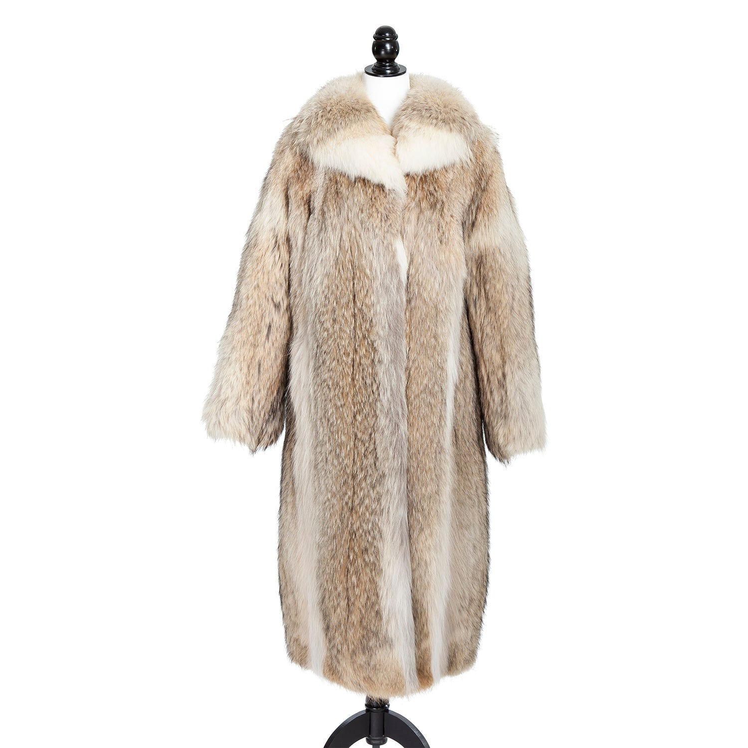 Coyote Coat with Detachable Hood