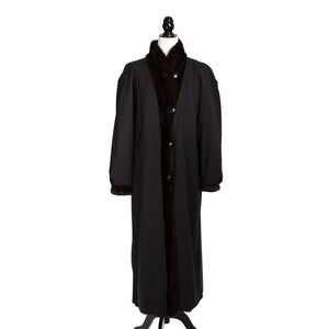 Mahogany Mink Reversible Long Coat
