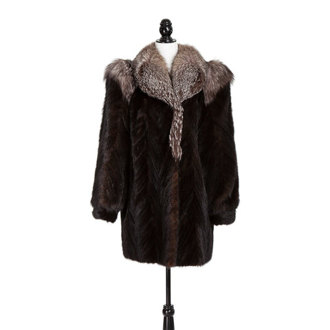 Black Mink Section Fox Trim Trotter