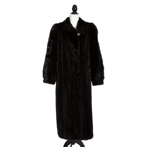Black Female Mink Coat