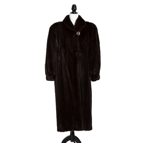 Mahogany Long Mink Coat