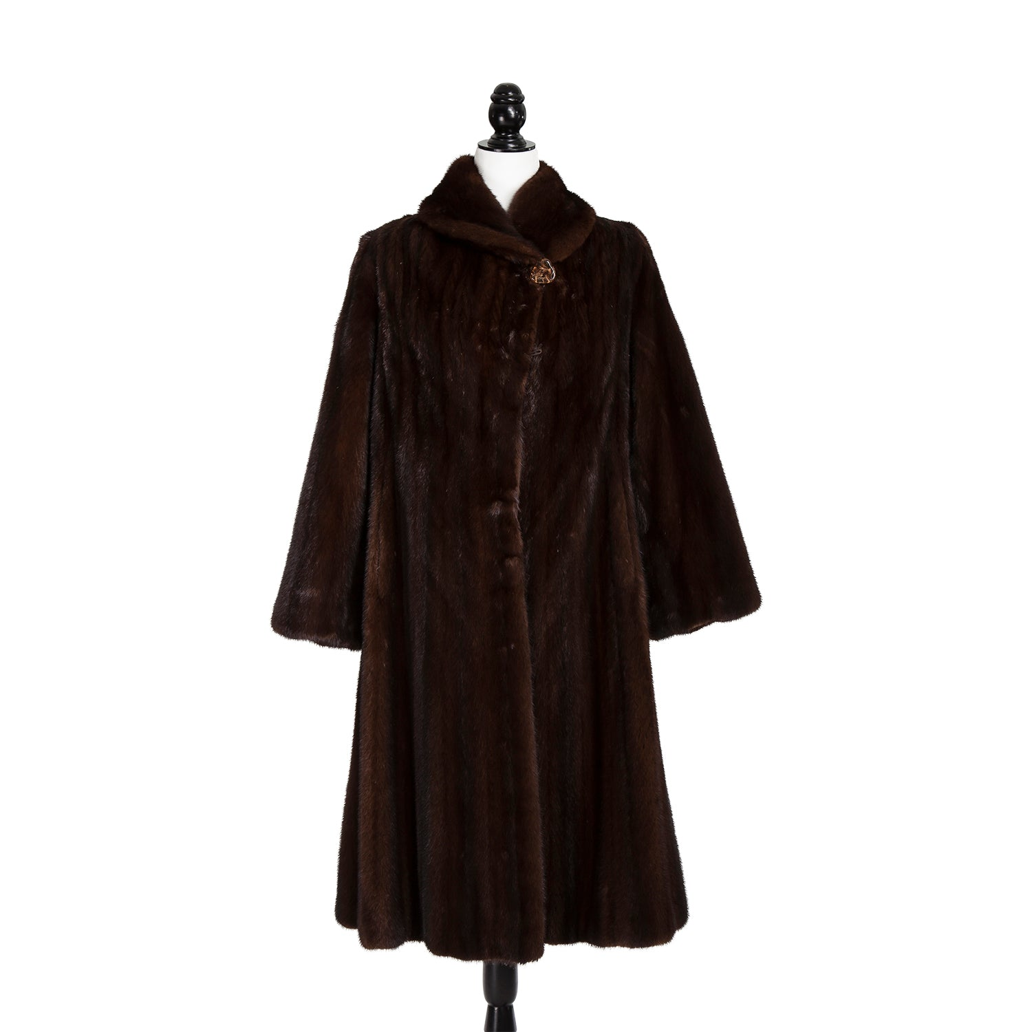 Long Mahogany Mink Coat