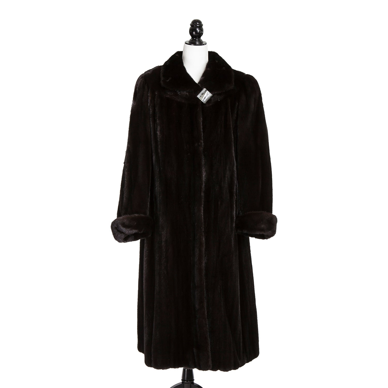 Black Mist Long Mink Coat