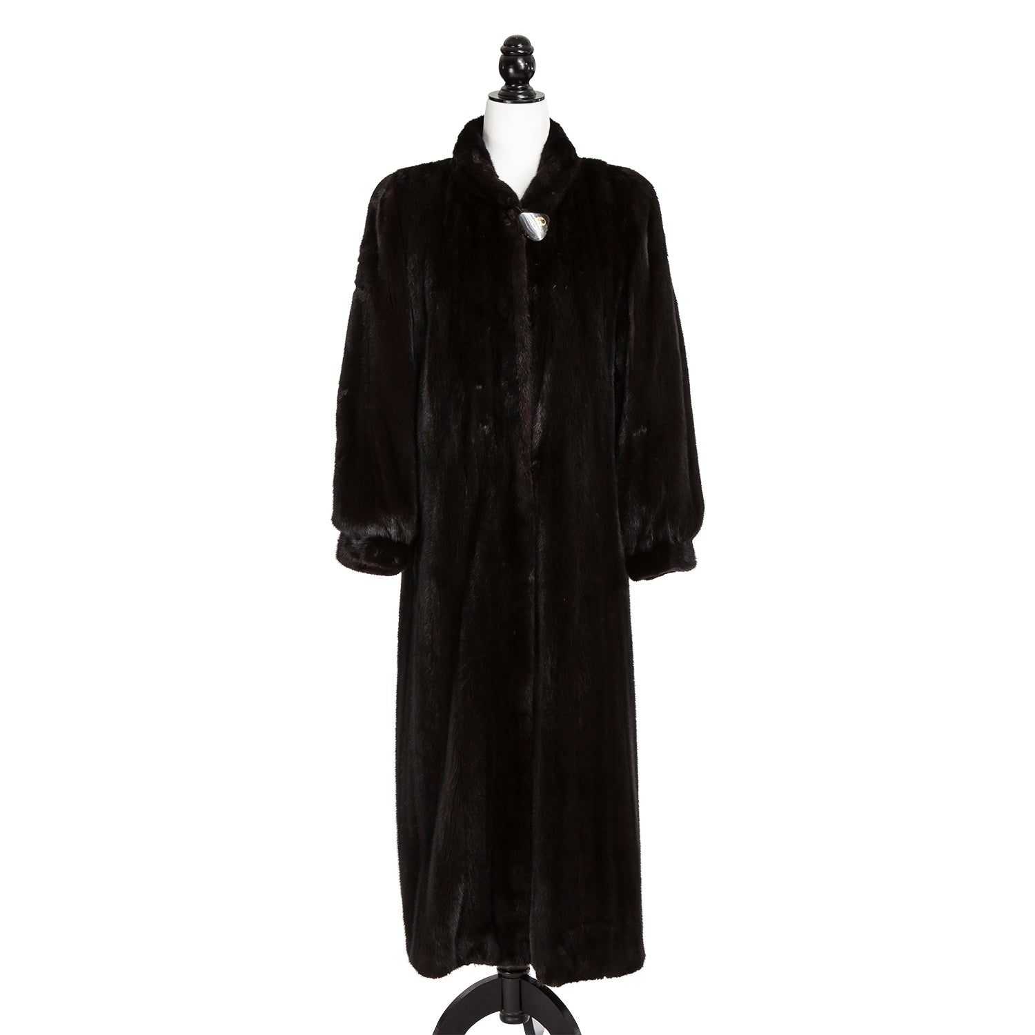 Long Black Female Mink Coat