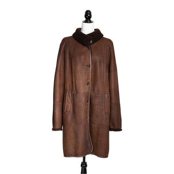 Tobacco Christ Curly Lamb Coat