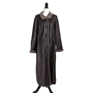 Charcoal Long Curly Lamb Coat