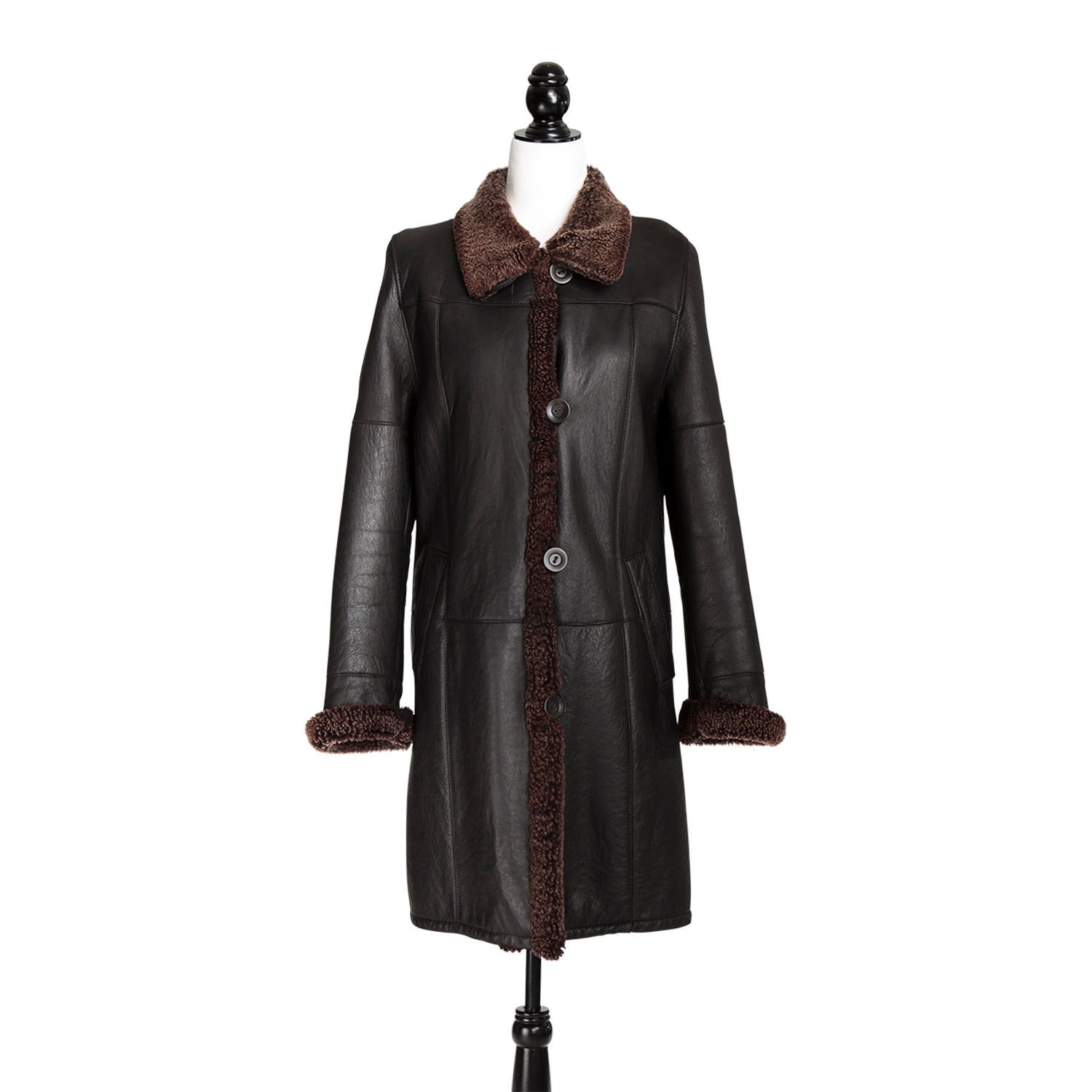 Brown German Shearling Coat