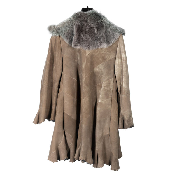 Champagne Toscana Lamb Short Coat by Christia