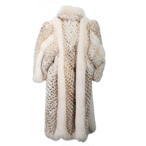 Full Length Feathered Fox Coat with Detachable Hood
