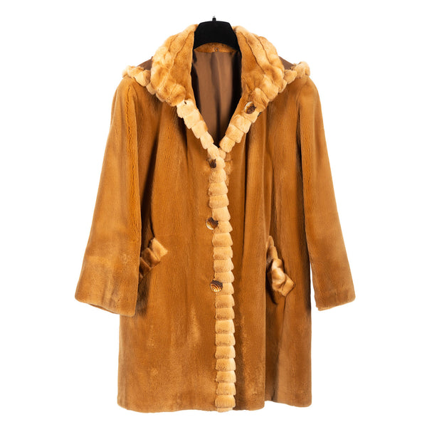 Amber Sheared Mink Reversible to Taffeta Rainwear