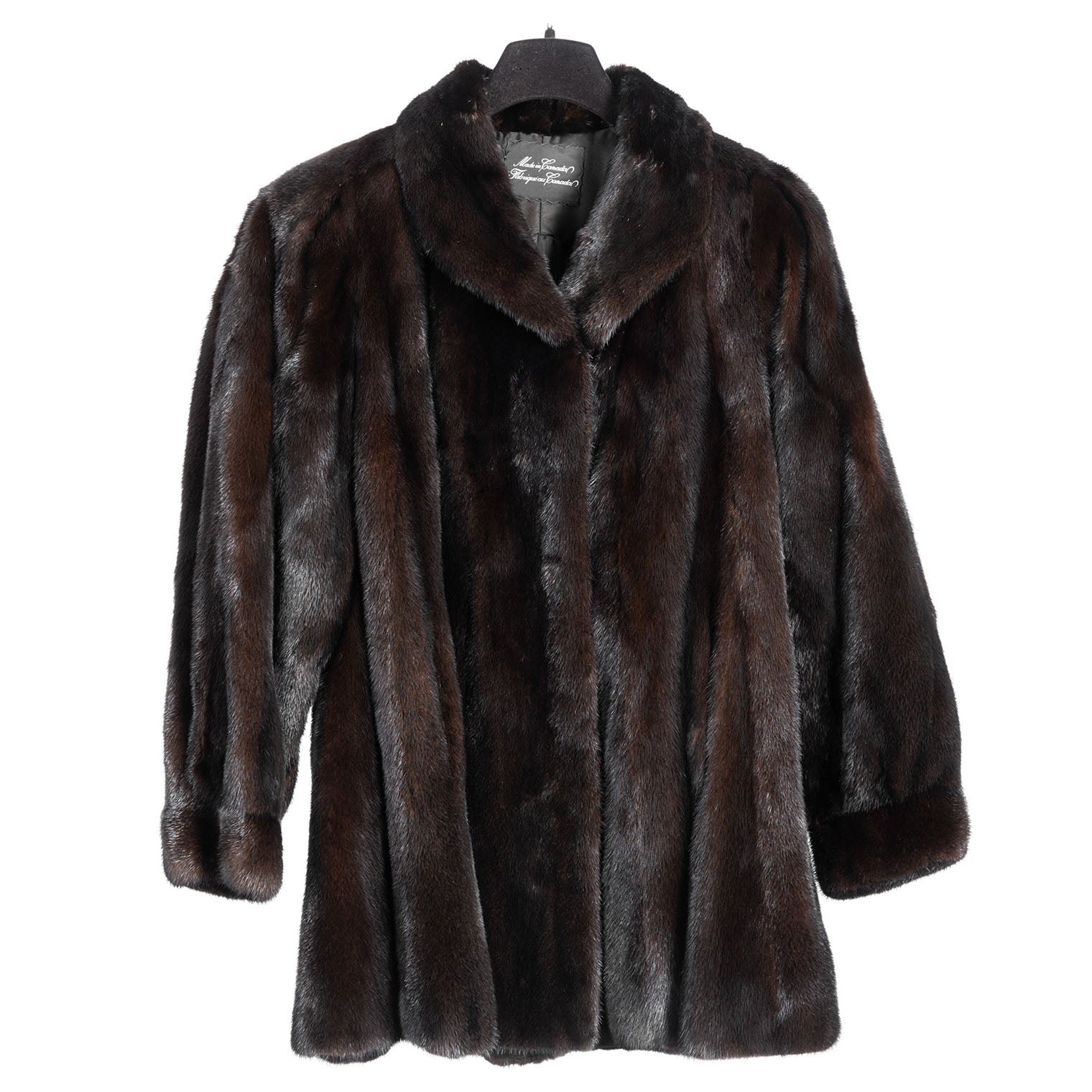 Dark Ranch Mink Car Coat