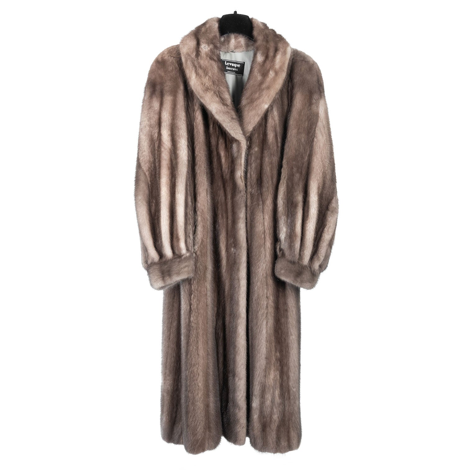 Taupe Mink Full Length Coat