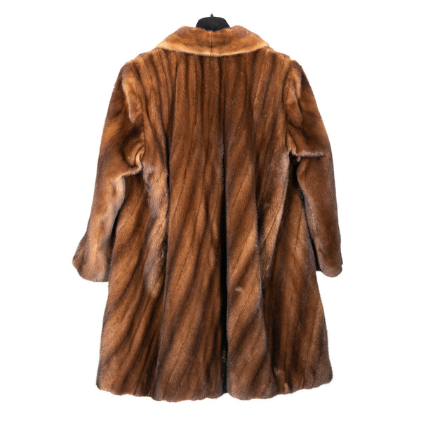 Demi Buff Directional Mink Trotter Coat