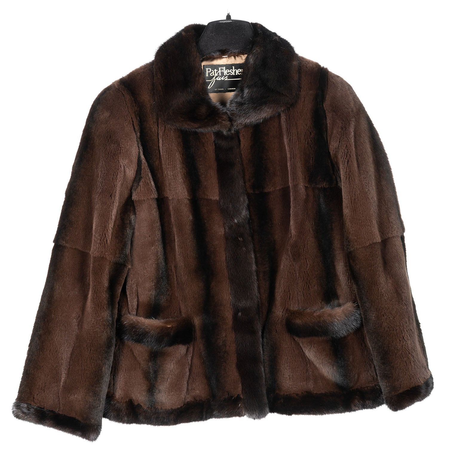 Brown Sheared Kolinsky Jacket