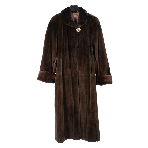 Brown Sheared Mink Coat