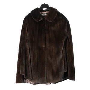 Fully Dropped Canadian Sheared Ranch Mink Cape