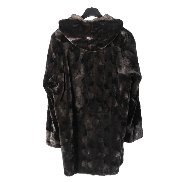 Sheared Mink Ovals Reversible 3/4 Coat
