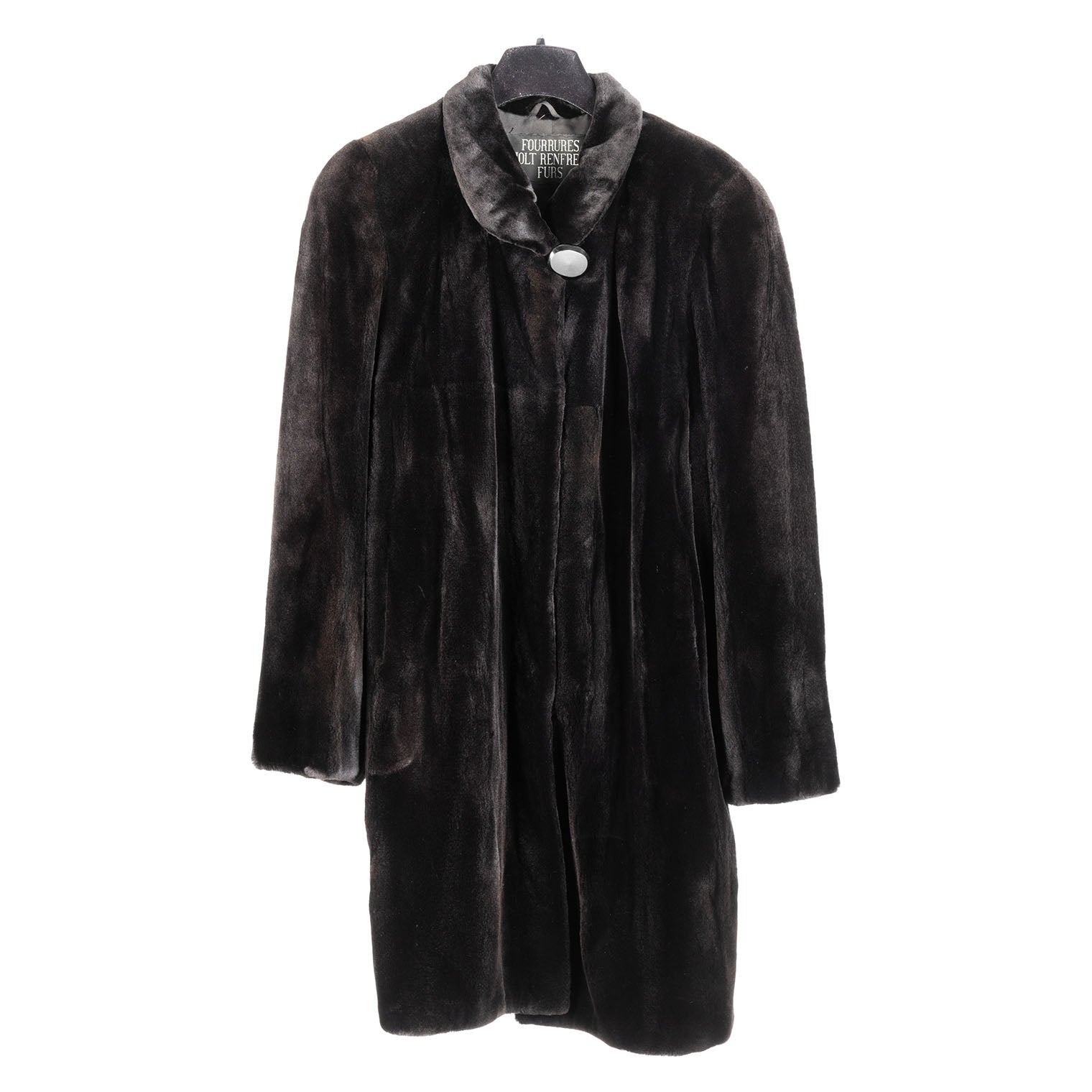 Black Sheared Mink Short Coat