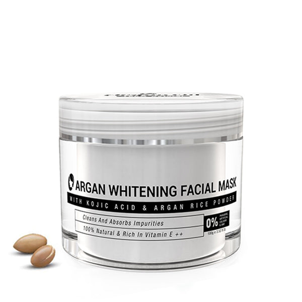 WHITENING FACIAL MASK WITH KOJIC ACID - ARGAN RICE POWDER - Nurture Argan