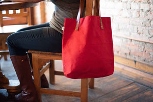 The Daisy Tote - Red