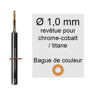 Rotatifs 1 mm pour machine vhf k5 / s2 / r5 / s1 application chrome cobalt titane