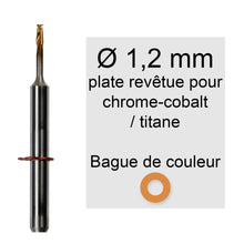 Charger l'image dans la galerie, Rotatifs 1,2 mm pour machine vhf k5 / s2 / r5 / s1 application chrome cobalt titane