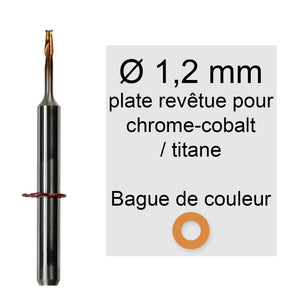 Rotatifs 1,2 mm pour machine vhf k5 / s2 / r5 / s1 application chrome cobalt titane