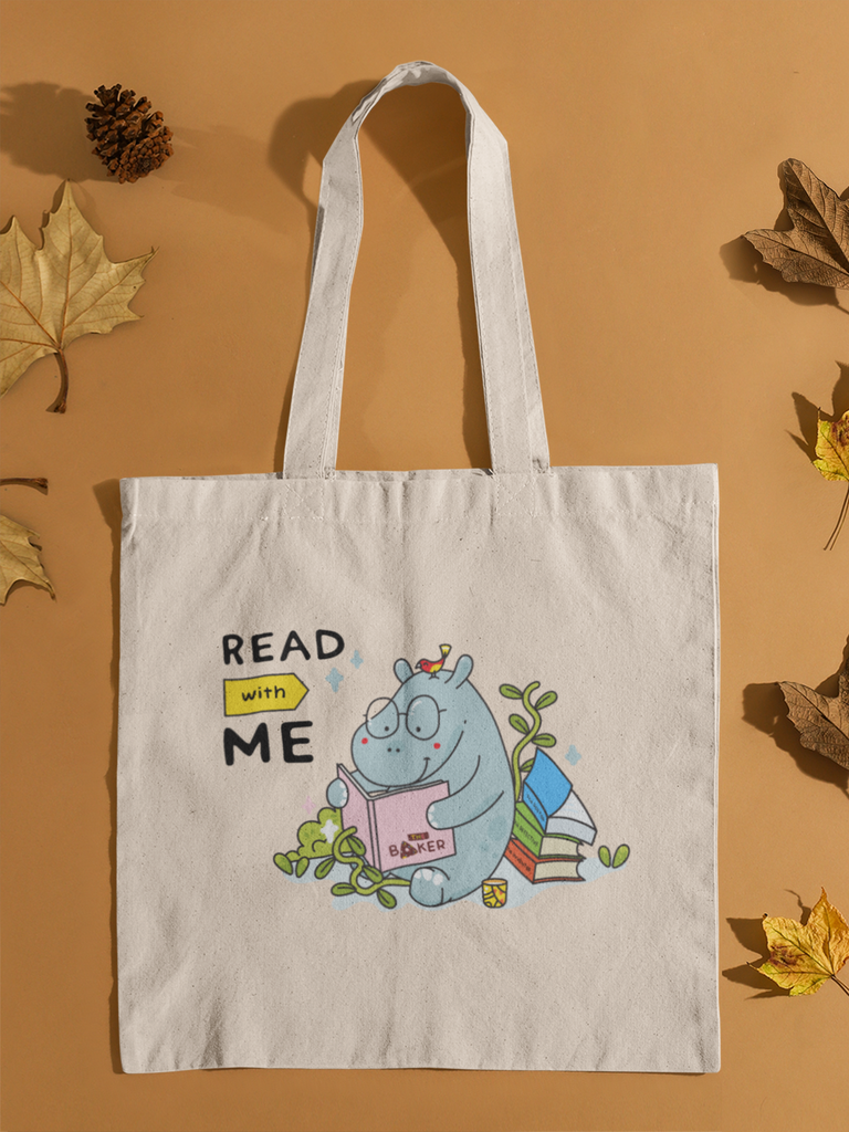 Read with me Tote bag