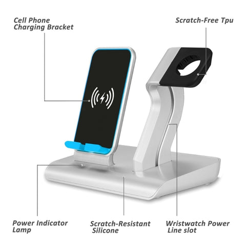 All-in-One iPhone & Smart Watch Wireless Charger
