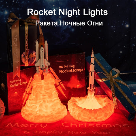 Image of PROMO - 2019 3D Rocket Lamp