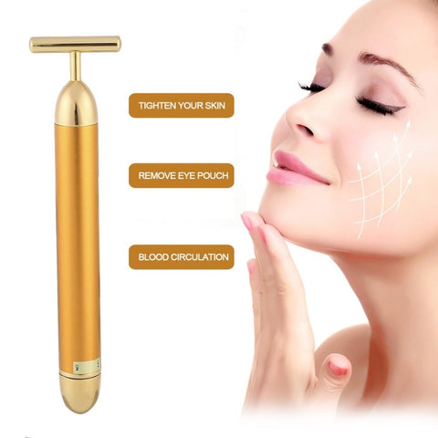 24k Gold Vibrating Contour & Facial Massager