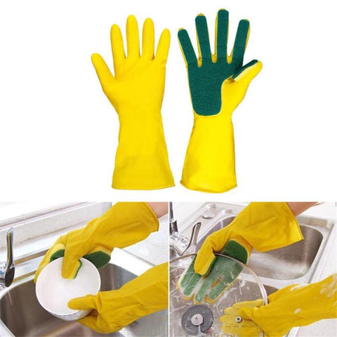 All-in-One Sponge Dishwashing Gloves