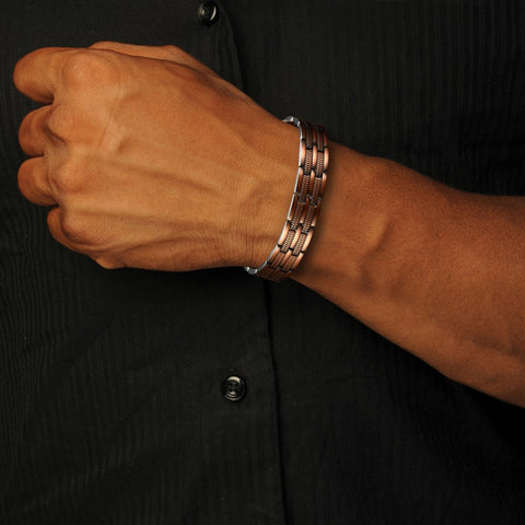 Image of Men's Copper Pain Relief Therapy Bracelet