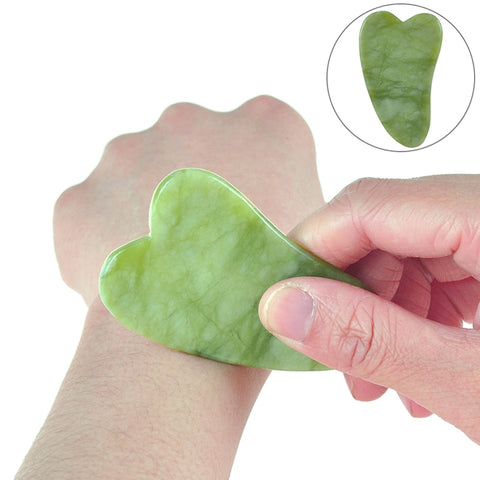 Image of Jade Gua Sha Massage Stone