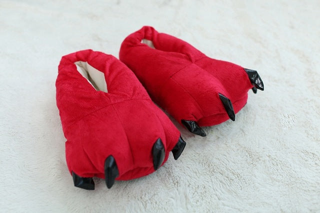 Monster Claw Plush Slippers