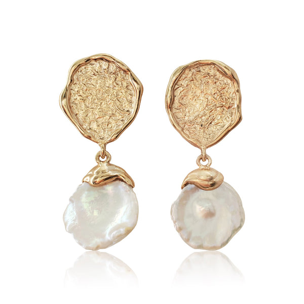 She Rose From The Sea Pearl Earrings