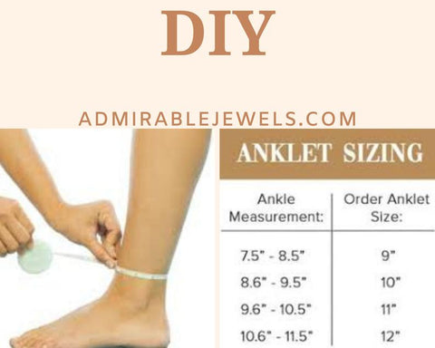Anklet Sizing Chart