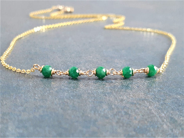 Beaded Emerald Necklace