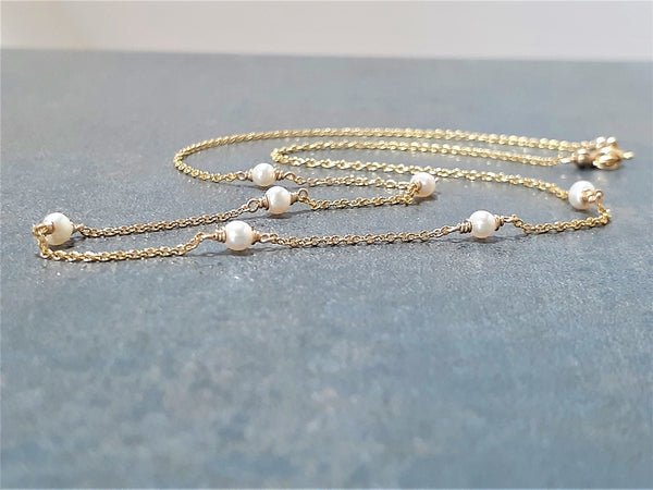 Freshwater Pearl Beaded Choker Necklace