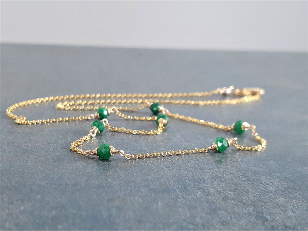 Emerald Beaded Choker Necklace