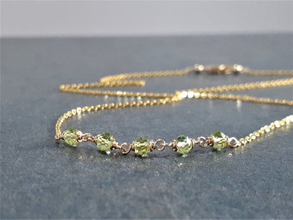Beaded Peridot Necklace