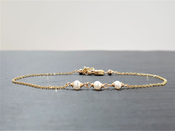 Dainty Freshwater Pearl Anklet