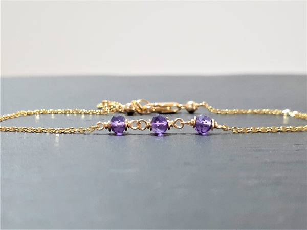 Purple Amethyst Anklet