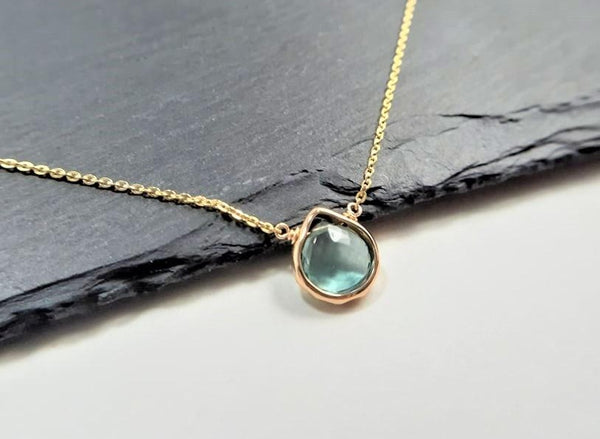 Teal Fluorite Necklace