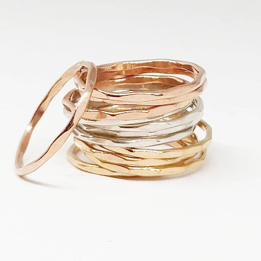 Thin Stacking Ring, Midi Ring