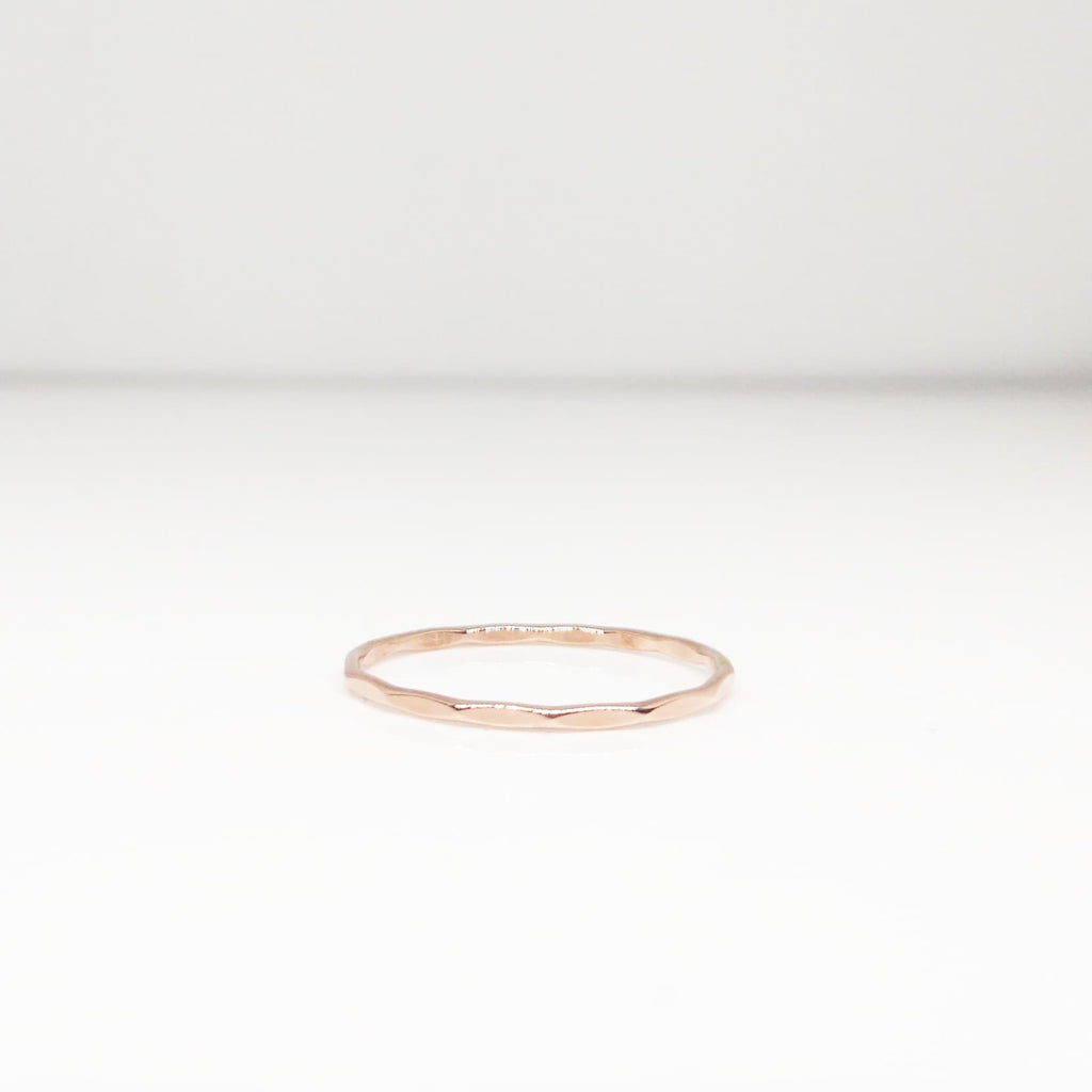 Thin Stacking Ring, Midi Ring - Rose Gold Filled, 14k Gold Filled or Sterling Silver