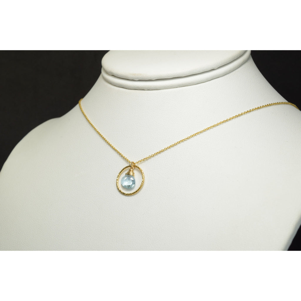 Aquamarine Hoop Necklace - Worn on Prince of Peoria