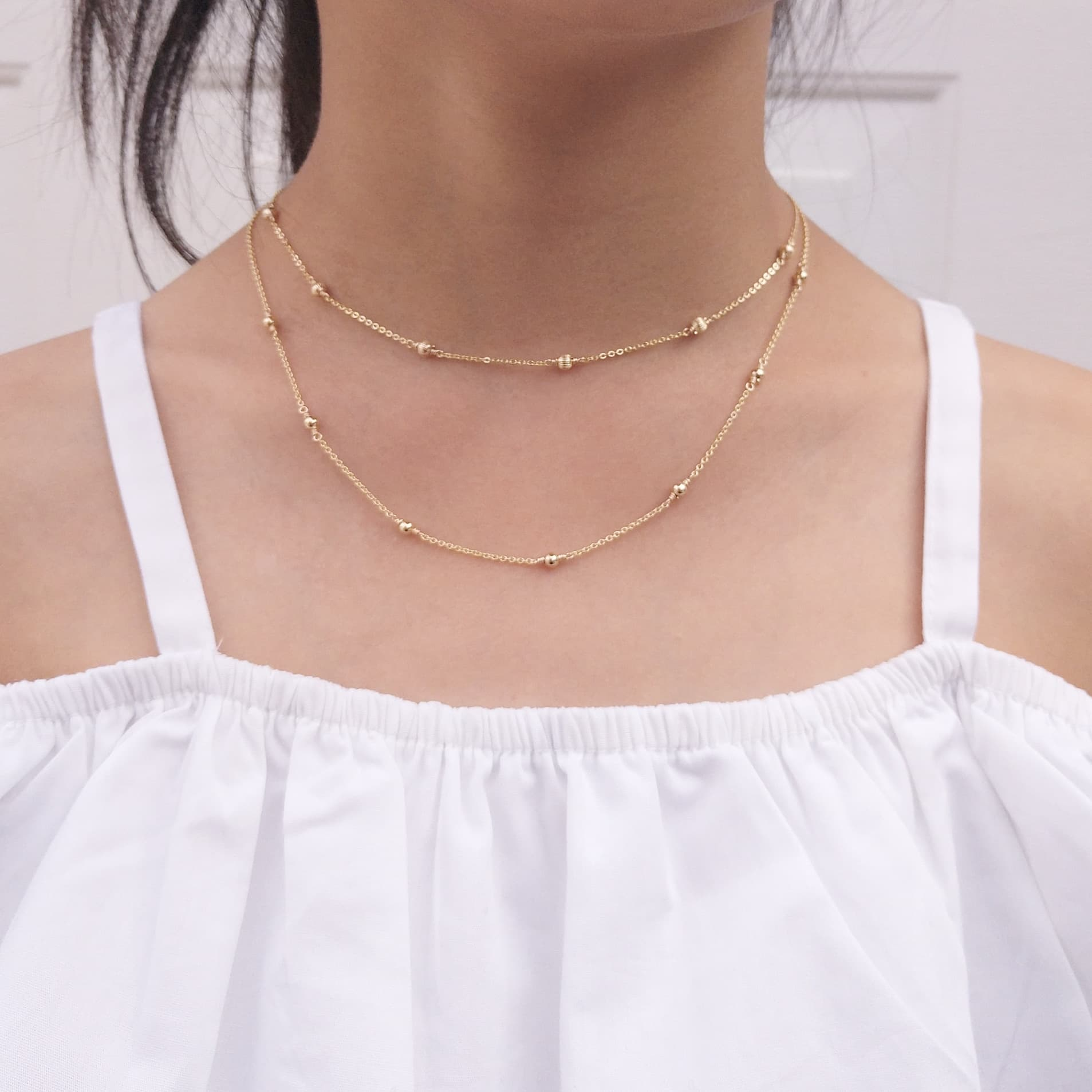 14k Gold Filled Dainty Gold Necklace Admirable Jewels