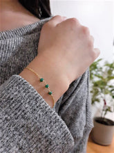 Load image into Gallery viewer, Genuine Emerald Bracelet - May Birthstone - Handmade Jewelry - 14k Gold Filled